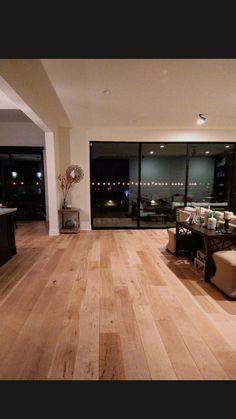 Staining Wood Floors, Maple Floors, Distressed Kitchen, Sunken Living Room, Modern Kitchen Island, Home Interior Design, Interior Architecture, Minimalist Home, Kitchen Flooring