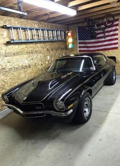 Photos are not mine unless stated otherwise! Man Cave Garage, Chevrolet Camaro 1970, Gp Moto, Classic Car Garage, 70s Muscle Cars, Classic Cars British, 70s Cars, Cool Old Cars, Pony Car