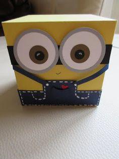 Diy Valentine's Box, Diy Gift Box, Diy Gifts, Minion Theme, Minion Birthday, Valentine Day Boxes, Valentines Diy, Diy Arts And Crafts, Paper Crafts