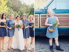 Denim at a wedding - A Weekend Camp Wedding: Brooke + Tim #wedding #idea