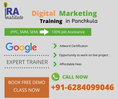 Digital Marketing course in Panchkula. Ira Institute Provide practical digital Marketing Training in Panchkula Haryana with job assistance. Marketing Training, Event Marketing, Content Marketing, Online Marketing, Social Media Marketing, Digital Marketing, Search Advertising, Display Advertising, Youtube Advertising
