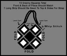 Free Granny Square Patterns | Crafty Things: Crocheted Totes and Handbags