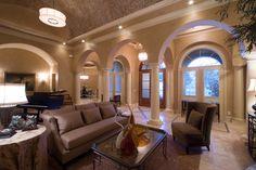 New Construction mediterranean family room