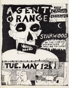 Punk Rock Posters  Agent Orange, The Crowd & 45 Grave @ The Starwood, Los Angeles, CA - May 12, 1981
