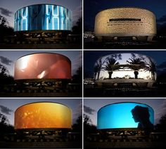 Doug Aitken. Song 1. Video installation. Hirshorn Museum, Washington, DC. 360-degree viewing surface for video projection.