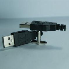 USB Connector Cufflinks Free Gift Bag by Cufflinked on Etsy, $15.99