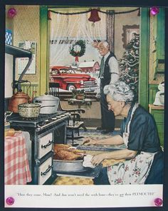 1940's Christmas Plymouth Vintage by VintageAdvertising on Etsy, $7.00