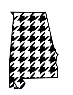 Houndstooth Alabama .svg, .dxf File Personal and Small Commericial on Etsy, $4.00