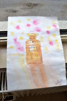 Original Aquarell Parfüm. Gelben Anstrich. OOAK von Artgardo