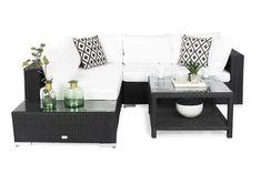 Bahamas Loungegruppe 4 Pers Bord 75x75 - Avslutning Svart | Trademax.no Outdoor Furniture Sets, Outdoor Decor, Exterior, Garden, Design, Home Decor, Homemade Home Decor, Garten, Outdoor Spaces