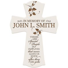 In Loving Memory Personalized wall cross,In Memory of Dad,Memorial gift,Memorial gifts for loss of Father,Sympathy Gift,Loss of Mother by Inlovingmemorygifts on Etsy