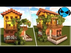 Minecraft how to build a Spanish house (Tutorial). Today I will be show you how to build a Spanish house. This minecraft build uses yellow terracotta, bricks. Minecraft Building Guide, Minecraft House Tutorials, Minecraft Plans, Minecraft House Designs, Minecraft Tutorial, Minecraft Blueprints, Cool Minecraft Houses, Minecraft Creations, Minecraft Crafts