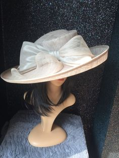 a74c1c1a681 Peter BETTLEY Pale Silver Grey Ascot Wedding Hat Occasion Mother Of The  Bride