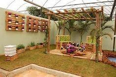Obraz znaleziony dla: meble do ogrodu z palet