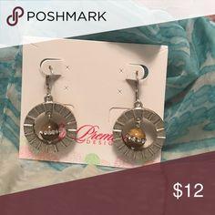 Silver and tigers eye earrings Very unique piece! Premier Designs Jewelry Earrings