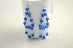 Blue Dangling Earrings DIY