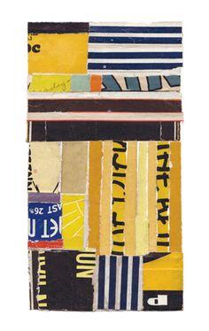 """""""Intermezzo-014,"""" collage by Lisa Hochstein, made of salvaged paper"""