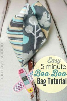 Sewing Projects for Kids | DIY Heating Pad Tutorial at http://diyjoy.com/quick-sewing-projects-diy-ideas