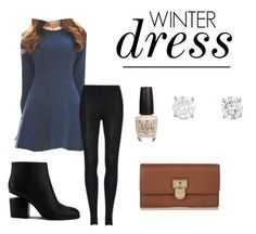 """""""winter dress"""" by melissakelleyy ❤ liked on Polyvore featuring Queen Bee, Alexander Wang, MICHAEL Michael Kors and OPI"""
