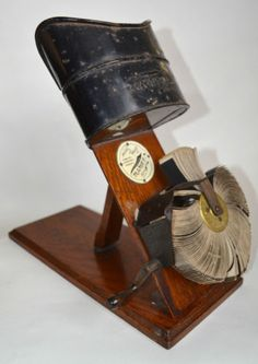 ANTIQUE KINORA SCOPE VIEWER EARLY MOVING FILM c1900 PRAXINOSCOPE WHAT BUTLER SAW