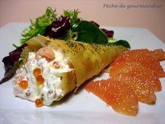 cornets chantilly-saumon fumé