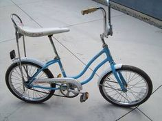 My aboslute Favorite thing to do ride my bicycle! I had a dark blue color with white seat by Schwinn-got it from Builders Emporium!