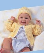 Sunny Outing - Cardigan directions are for newborn; changes for sizes 6, 9, +12 months are in ( ). Hat directions are for size small/medium; changes for size medium/ large are in ( ). Skill Level: Beginner Pic is not on the 1page free pdf