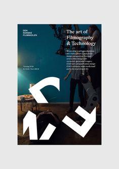Den Norske Filmskolen by Neue, Norway. #branding #poster #design