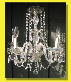 Vintage five arm italian chandelier with cut glass prisms antique 5 light crystal chandelier w prisms luxury venetian style glass arms chandeliers fixtures sconces photo aloadofball Images