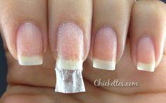Fix a broken nail with a tea bag and nail glue