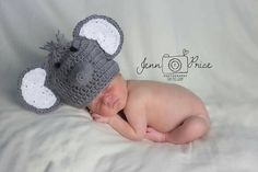 How adorable is this crochet elephant baby hat!! These make awesome photo props!!  Check out this item in my Etsy shop https://www.etsy.com/listing/277463264/elephant-baby-hat-crochet-elephant-baby