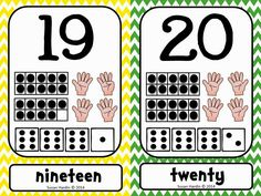 Decorate your classroom with these great Number Posters, in a variety of sizes. Chevron design looks great with other classroom themes. $