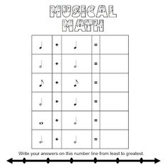 math worksheet : 1000 images about music worksheets on pinterest  music  : Rhythm Math Worksheets