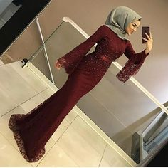 Image may contain: 1 person, shoes and indoor Hijab Prom Dress, Hijab Gown, Muslimah Wedding Dress, Hijab Evening Dress, Hijab Wedding Dresses, Muslim Dress, Hijab Outfit, Dress Outfits, Evening Dresses