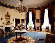 In 2000, we toured the White House. The Blue Room was my favorite room.