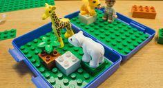 Das perfekte Reisespielzeug für kleine Kids! #lunchbox #duplo #bausteine