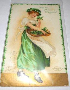 Clapsaddle Postcard St Patrick's Day Irish Germany 1909 Divided Back      4287 #StPatricksDay