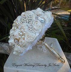 ELEGANT Brooch Bouquet DEPOSIT for a Custom by Elegantweddingdecor