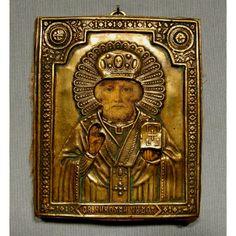[SOLD] #Antique #Russian #Icon Saint Nicholas