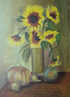 Girasoles, óleo sobre tela