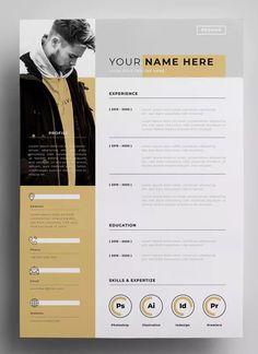 Lebenslauf Design-Vorlagen AI EPS - My best design list Grafic Design, Graphic Design Resume, Creative Resume Design, Portfolio D'architecture, Portfolio Resume, Resume Design Template, Cv Template, Resume Templates, Graphic Design Templates