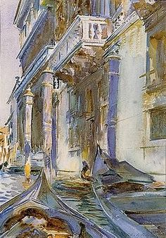 On the Grand Canal, ca.1907 (watercolor)