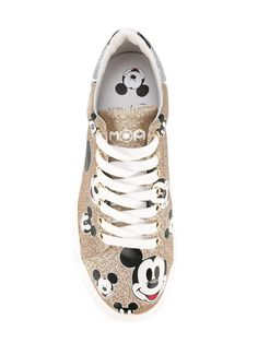 gold glitter mickey mouse shoe