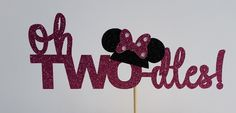 oh twodles minnie mouse cake topper/disney birthday/birthday party by PaperMyLife on Etsy https://www.etsy.com/listing/275246750/oh-twodles-minnie-mouse-cake