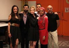 with the cast and creator of 'Little Mosque'...