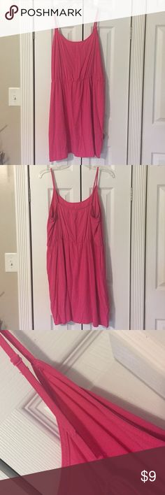 Bright Pink and Royal Blue Sun Dresses Both have adjustable straps, blue has elastic panels on sides and both have back zipper -- blue has small pull on seam (Under right breasts at waist, photo 4, received this way) -- both are REPOSH, both were never worn by me! Old Navy Dresses