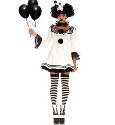 [Halloween Costumes Women] Leg Avenue Women's 3 Pc Pierrot Clown Halloween Costume, White/Black, Medium/Large >>> You can find more details by visiting the image link. (This is an affiliate link) Pierrot Costume, Rave Halloween Costumes, Clown Costume Women, Clown Halloween Costumes, Pierrot Clown, Halloween Circus, Cute Clown Costume, Vintage Halloween, Circus Outfits