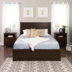 31 Beautiful Dark Wood Furniture Design Ideas For Your Bedroom - Designing any living space can be quite a daunting task but this is one of those rare occasions when daunting can be fun as well. It's daunting becaus. Dark Wood Bedroom Furniture, Dark Brown Furniture, King Furniture, Furniture Dolly, Bathroom Furniture, Bedroom Colors, Bedroom Sets, Bedroom Decor, Brown Headboard