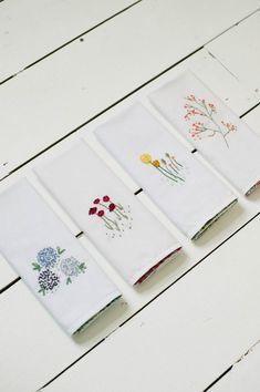 Embroidered napkin tutorial   Liberty print napkins   Sewing tutorial   Photos by KatharinePeachey.co.uk