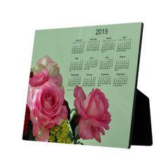2015 Floral Desk Calendar by Janz Display Plaque